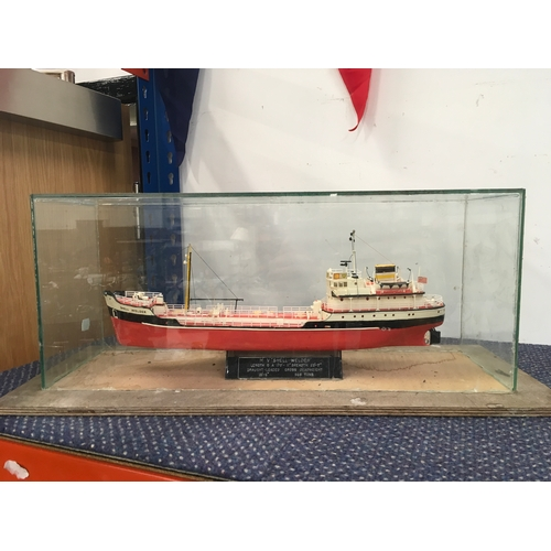 2001 - A model of Shell Welder boat in its case....