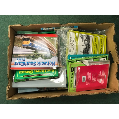 2021 - A box containing a quantity of train related books....