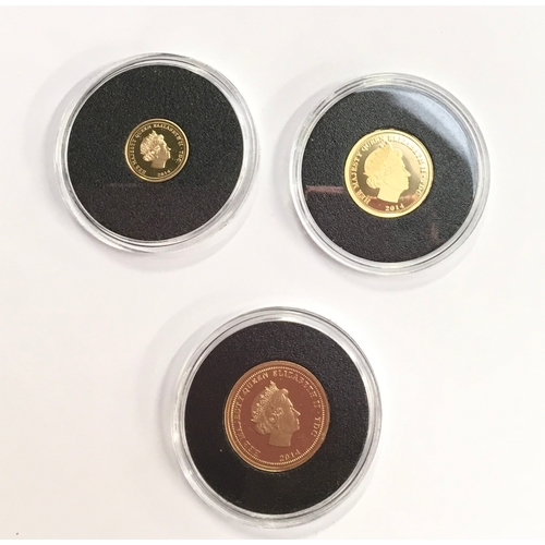 30 - The Four Generations, Gold Sovereign set proof: sovereign, half and quarter....