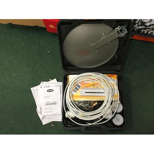 2030 - A digital satellite receiver with case (REF:6)....