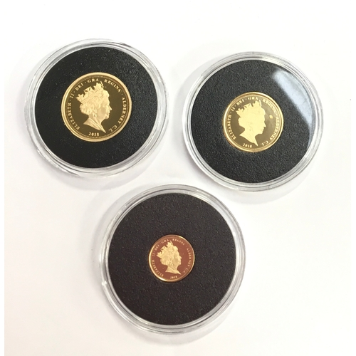 40 - 65 Anniversary, 2018 Gold Sovereign set proof: sovereign, half and quarter....
