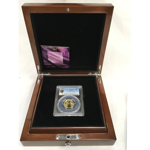 10 - Tristun Da Cunha, Gold Sovereign proof Diamond Silver Jubilee 2012 double portrait....
