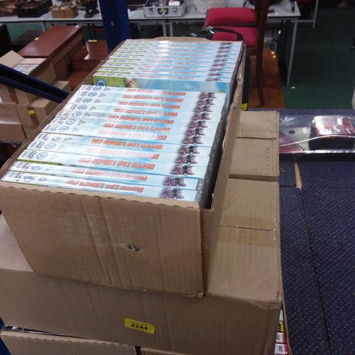 2108 - Five boxes of dvds....