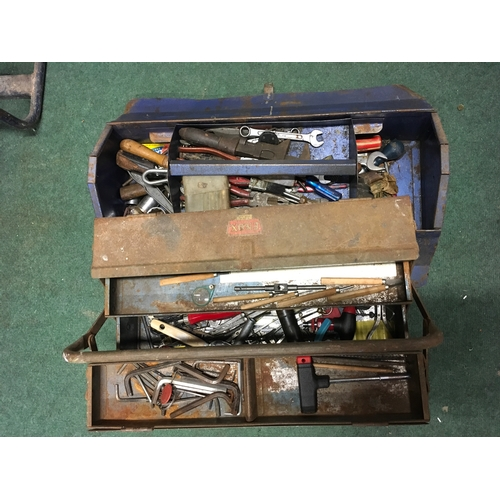 2115 - Two metal toolboxes with some loose tools....