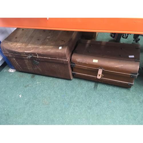 2119 - Two tin trunks....