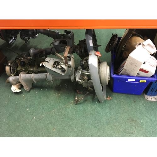 2120 - Three marine engines (as found) plus spares....