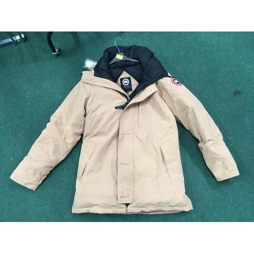 2308C - A men's sand coloured Canada Goose jacket, size XL (REF:20)....