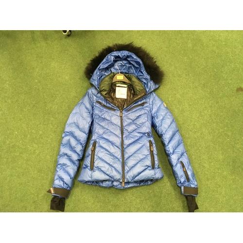 2309 - A blue women's Moncler jacket, size 1 (REF:115)....