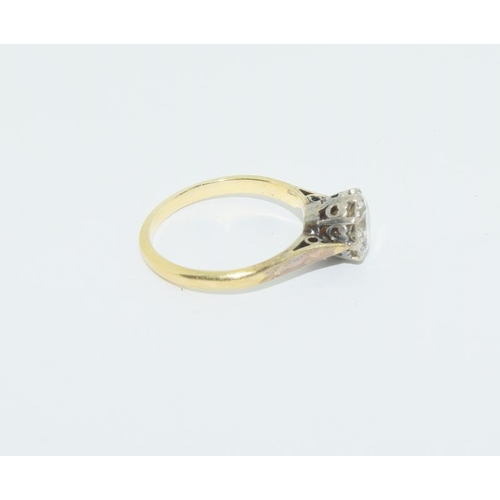 26 - 18ct gold ladies old cut solitaire diamond ring approx 1.5ct, size M. (being sold on behalf of the R...