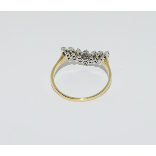46 - 18ct gold diamond ring - approx approx 0.6 points....