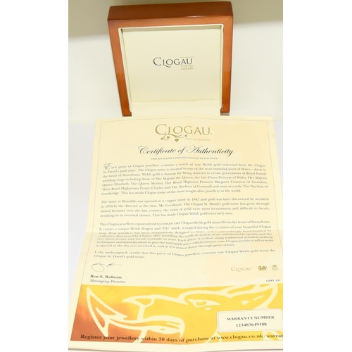 47 - Clogau 9ct welsh gold/silver boxed bracelet with certificate....