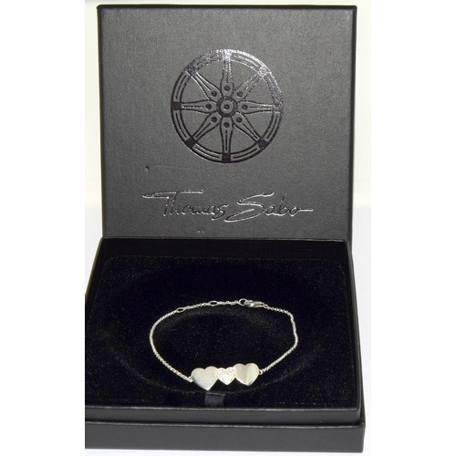 37 - Clogau 9ct welsh gold/silver bracelet - boxed with certificate....