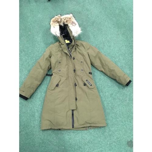 2315 - A khaki Canada Goose jacket, size XS (REF:79)....