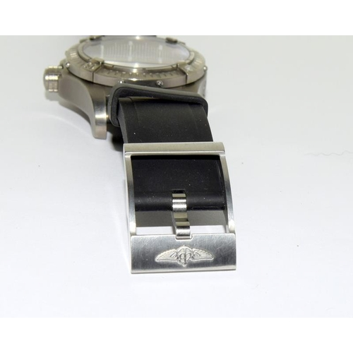 2143 - Breitling Avenger Seawolf watch with box and papers. Ref 94....