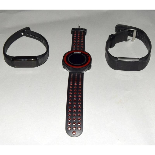 2149 - Three fitness watches to include Fitbit, Garmin and Virgin Pulse Max Buzz. Ref 33, 44, 45....