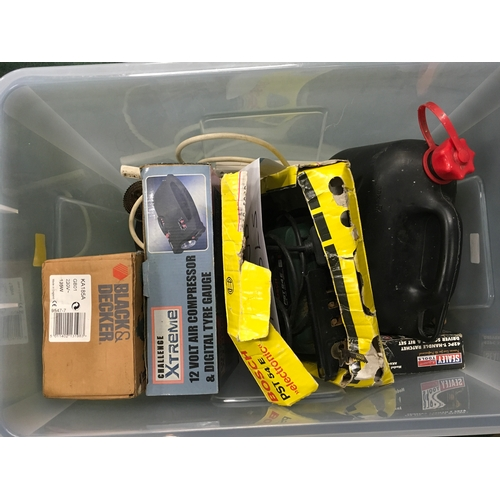 2130 - A box of assorted tools and diy accessories....