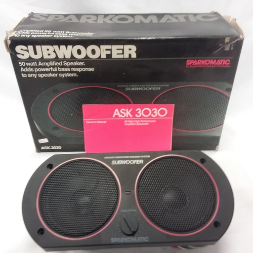 1014 - A Sparkomatic ASK3030 Subwoofer with box....