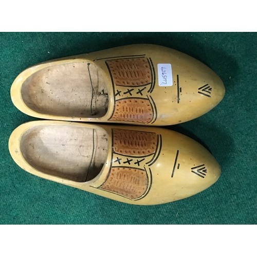 1034 - A large pair of wooden clogs....