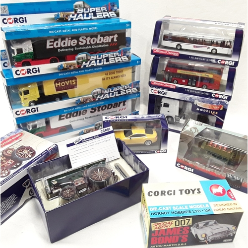 366 - Corgi boxed group to include The Original Omnibus models, Super Haulers, Vintage Glory, James Bond A...