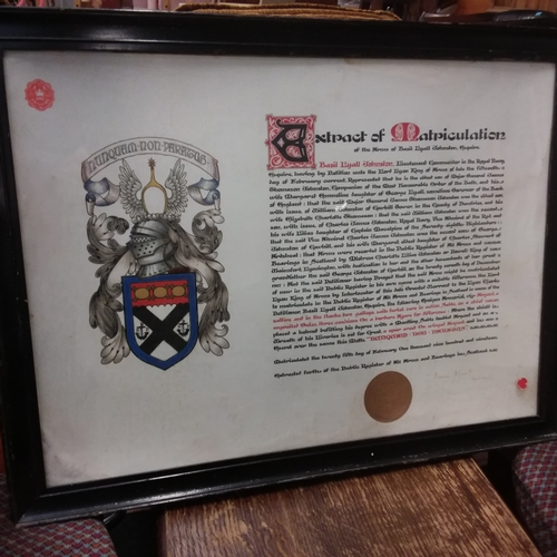1431 - A framed and glazed print....