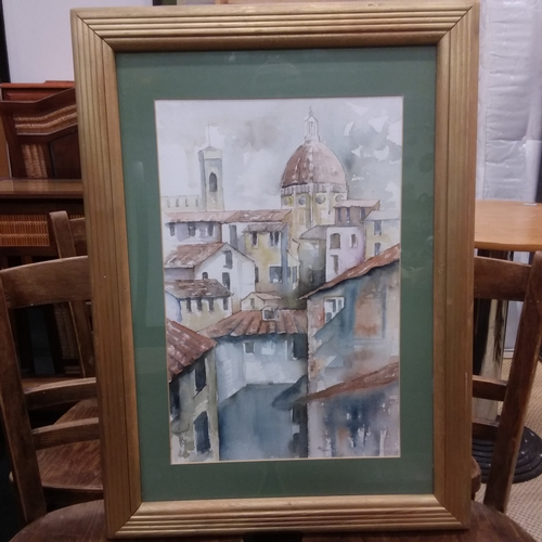 1447 - A framed and glazed watercolour signed H Talbot....