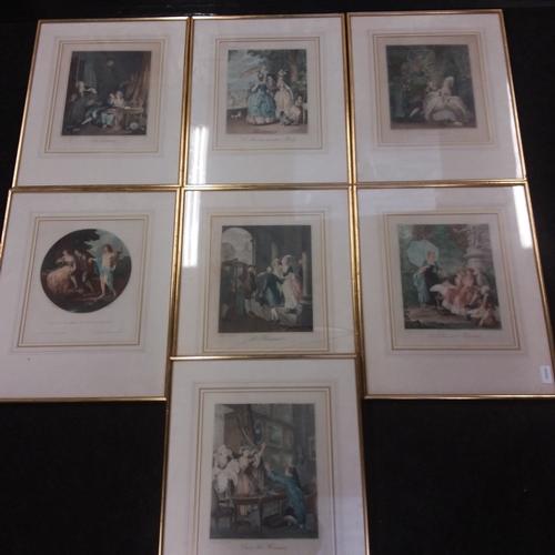 1482 - A set of seven prints....