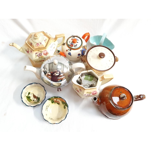 2017 - A collection of porcelain teapots and other china....