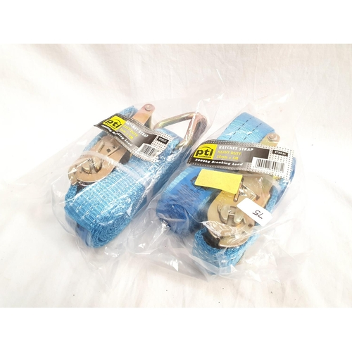 2040 - Two packets of 5m x 35mm straps (75)....