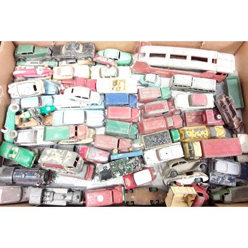 424 - Tray of mixed mainly playworn diecast to include Dinky, Corgi and others....