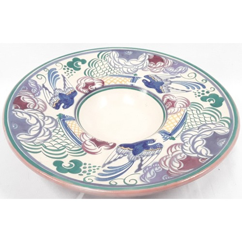 5 - Poole Pottery Carter Stabler Adams PN pattern (blue bird) large bowl by Anne Hatchard 13