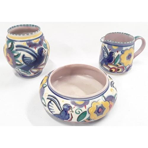 132 - Poole Pottery shape 210 QB pattern vase 4.25