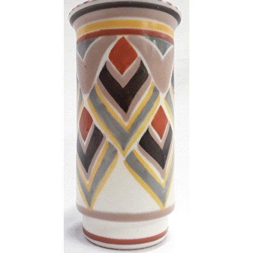 134 - Poole Pottery shape 976 OR pattern art deco spill vase by Eileen Pragnell 6