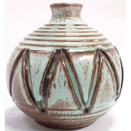 105 - Poole Pottery carved Atlantis vase by Catherine Connett  A5'2, 3.5