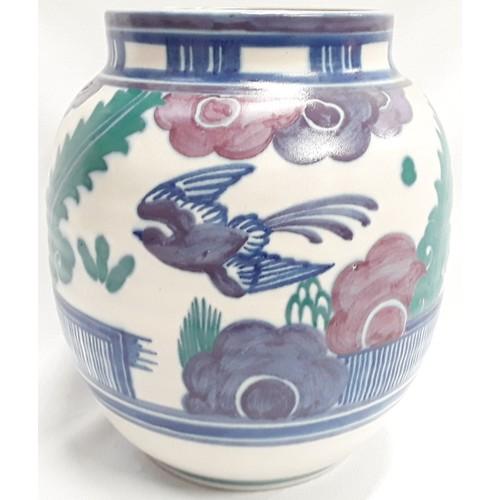 9 - Poole Pottery Carter Stabler Adams shape 621 large blue bird pattern vase 10