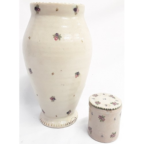 48 - Carter & Co Poole Pottery early transitional ware sprig decorated vase by James Radley Young 11