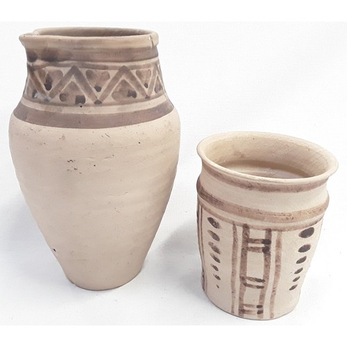 42 - Carter & Co Poole Pottery early etruscan designed by James Radley Young beaker as shown on page 26 o...