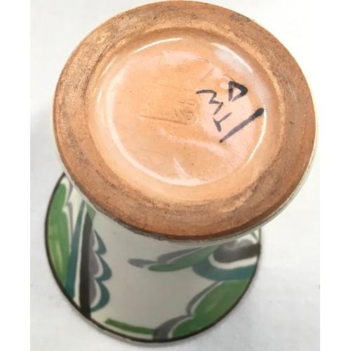 144 - Poole Pottery shape 510 miniature TW pattern trumpet vase by Vera Bridle 4
