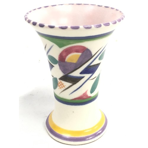 143 - Poole Pottery shape 510 miniature JV pattern trumpet vase by Rene Hayes 4