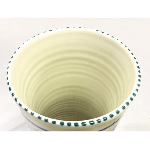 128 - Poole Pottery SK pattern vase 12