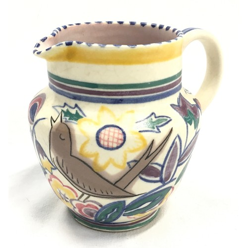 137 - Poole Pottery shape 327 AS pattern jug by Gwen Dry 4.25
