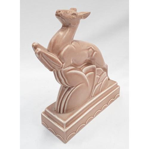 118 - Poole Pottery Springbok bookend designed by John Adams....