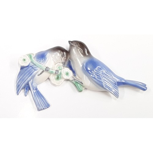 111 - Poole Pottery wall mounted 832 lovebird designed and modelled by John Adams....