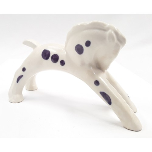 113 - Poole Pottery rocking horse designed by John Adams in 1934 with purple spots 4.5