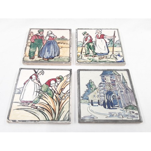 41 - Poole Pottery Carter Tiles Dutch scene tile 5x5