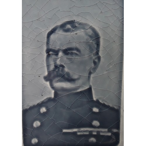 35 - Poole Pottery Field Marshall Lord Kirchener portrait tile/plaque as shown on page 23 of the Hayward ...