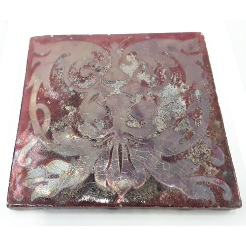 30 - Poole Pottery Carters Poole lustre tile 6.25 x 6.25
