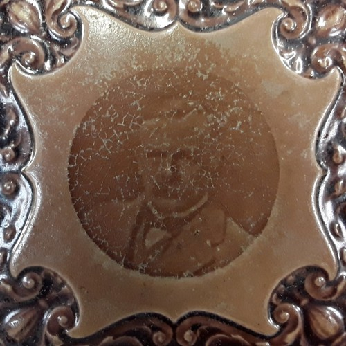 32 - Poole Pottery Carter & Co teapot stand depicting Lloyd George 6x6