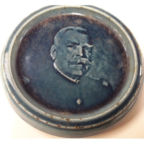 36 - Poole Pottery circular plaque of General Joseph Jacques Cesaire Joffre, together with one other of K...