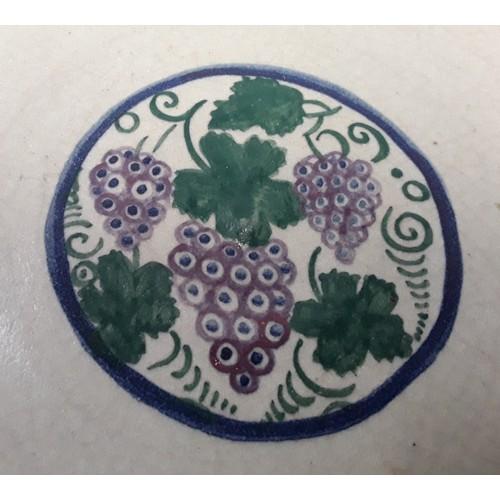 7 - Poole Pottery Carter Stabler Adams shape D246 BM/BL pattern dish/bowl possibly by Ernest Banten. 12