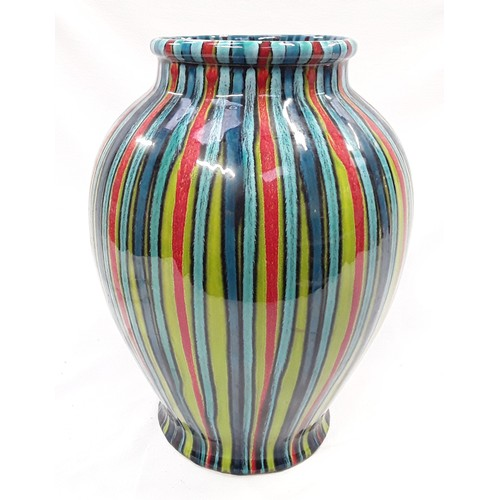 98 - Poole Pottery Studio large vase by Janice Tchalenko 13.5